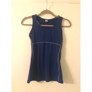 Blue NWOT Workout Top